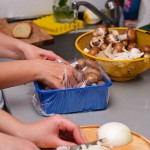 Activităţi intense în bucătărie.