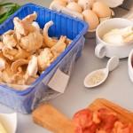 Ciuperci Pleurotus, ciolan afumat, ouă, mozarella, măsline ...