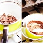Ciocolata se lasă la topit la Bain Marie...