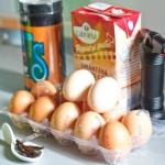 Ouă, smântână dulce, vanilie, zahăr, arzător...