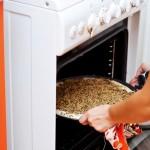 Punem tava în cuptor la 200°C