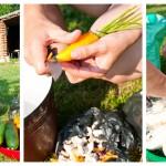 Cu o jumătate de oră înainte să luăm purcelul de la proţap, pregătim legume.