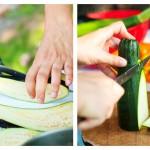 Se curăţă şi taie felii sau jumătăţi dacă este necesar: morcovi, vinete, roşii, ceapă, dovlecei, ciuperci, ardei.