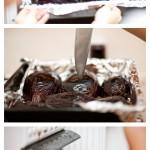 Coacem vinetele 10 minute pe modul grill al cuptorului, apoi le înţepăm din loc în loc şi le băgăm iar la cuptor