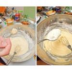 Se adaugă scorţişoara, praful de ghimbir, iaurtul, ciocolata rasă şi apoi se amestecă bine.