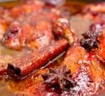 Pulpe de raţă cu steluţe de anason şi sos de prune