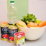 Ingredientele necesare pentru supa cremă de roşii