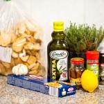Ingredientele pentru spaghetti con acciughe e pangrattato