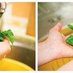 Spălăm verdeaţa sub jet de apă