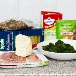 Ingredientele de care avem nevoie pentru cannelloni cu spanac, gorgonzola şi speck