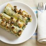 Cannelloni cu spanac, gorgonzola şi speck