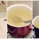 ...se pregăteşte un sirop de zahăr şi apă.