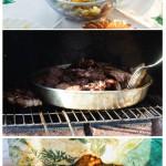 Timp în care ne facem de lucru cu nişte grătar, salată de castraveţi muraţi şi ceapă roşie.