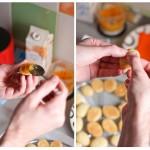 O parte cu dulceaţă de mango...