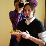 ... la fel şi bucătarul însoţit de fotograf...