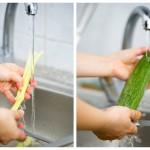 Spălăm ţelina şi dovleceii