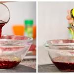 Adăugăm cana de vin si vreo 4 linguri de ulei de măsline