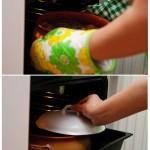 Apoi se acoperă cu capac şi se bagă la cuptor.