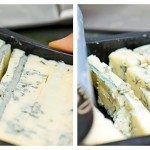 Tăiem gorgonzola cubuleţe