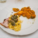Risotto cu dovleac, bacon, castane (Andreea Nitu) şi dovleac glasat (Ana).