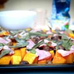 Pregătiri pentru risotto cu dovleac, castane, salvie- Andreea Nitu (Taste Bazaar).