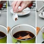 ...apoi se adaugă anasonul, scorţişoara, piperul Sichuan, zahărul, ghimbirul.