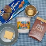 Ingrediente pentru trufele de ciocolată şi smochine.