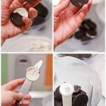 Se curăţă biscuiţii de cremă.