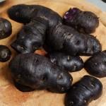Se crestează cartofii cu tăieturi paralele perpendiculare pe lungime. Sau mai bine vezi poza.