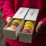 Macarons: fistic, ciocolată, smochine, lămâine, vanilie, caramel sărat